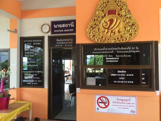 Train Pattaya to Bangkok Thailand Information and Ticketing Office Hours
