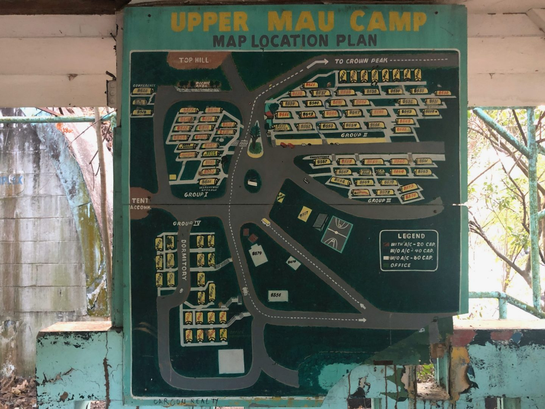 Upper MAU Camp Subic Bay Naval Base USMC Map