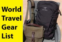 World Travel Gear List