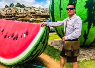 Giant Fruit by Nong Nooch Gardens - Thailand Motorbike Adventure Travel
