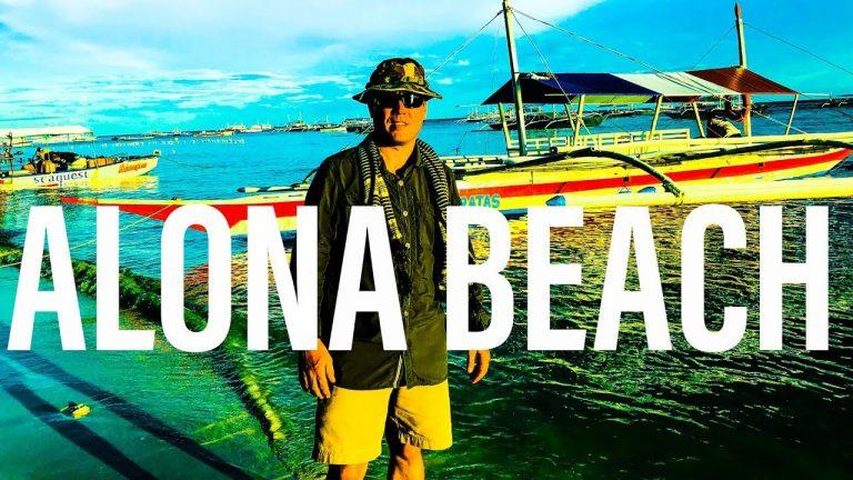 A Walk from Paragayo Resort to Alona Beach, Bohol, Philippines