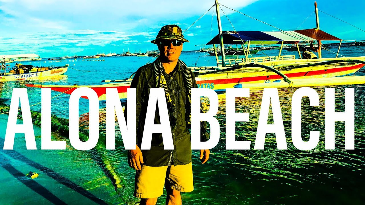 A Walk from Paragayo Resort to Alona Beach, Bohol, Philippines