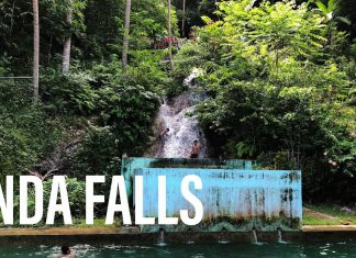Anda Falls, Bohol, Philippines - The Waterfalls Drain into a Swimming Pool