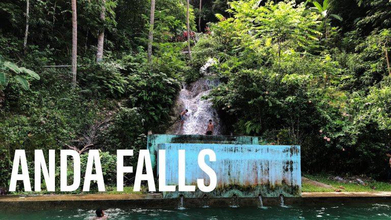 Anda Falls, Bohol, Philippines - The Waterfalls Drain into a Swimming Pool